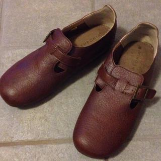 ブラウン★ペタンコ靴(ローファー/革靴)