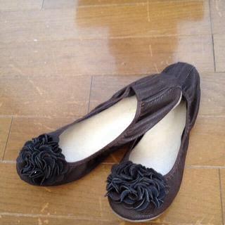 フラワー ぺったんこシューズ999円*(ローファー/革靴)