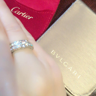 ブルガリ(BVLGARI)のありがとう!の気持ちで10万円値引き!ブルガリ&カルティエリング(リング(指輪))