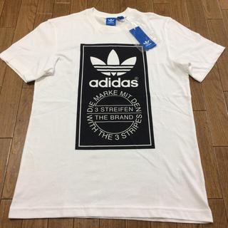 アディダス(adidas)のラスト1着‼️お年玉セール‼️新品 adidas ラベルTシャツ黒L(Tシャツ/カットソー(半袖/袖なし))