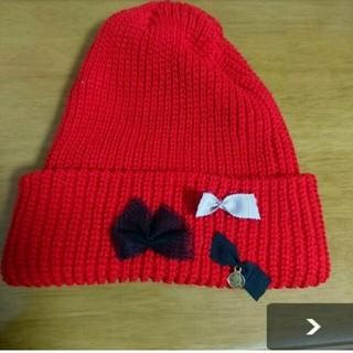 パサージュミニョン(passage mignon)のpassage mignon ニット帽(ニット帽/ビーニー)