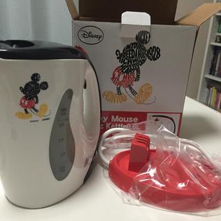 ディズニー(Disney)の☆新品☆電気ケトル ミッキーマウス 0.6L(電気ケトル)