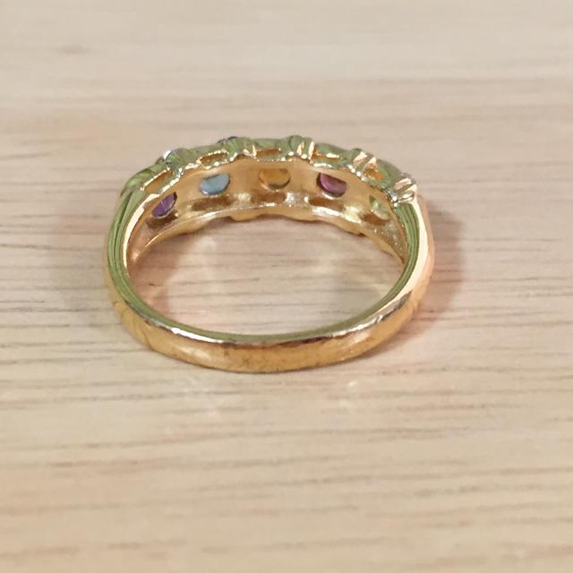 指輪 マルチカラーストーン ゴールド レディースのアクセサリー(リング(指輪))の商品写真