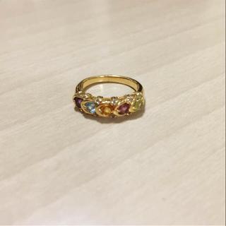 指輪 マルチカラーストーン ゴールド(リング(指輪))