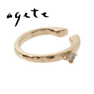 アガット(agete)のアガット agete 一粒ダイヤイヤーカフ(イヤーカフ)