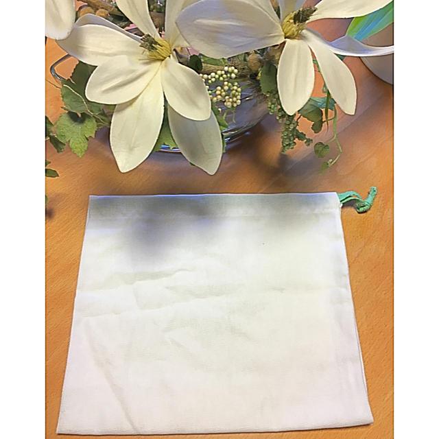 フィナモレ 袋 非売品 シューズ入れ 服入れ 白 巾着袋 ブランド レア レディースのバッグ(