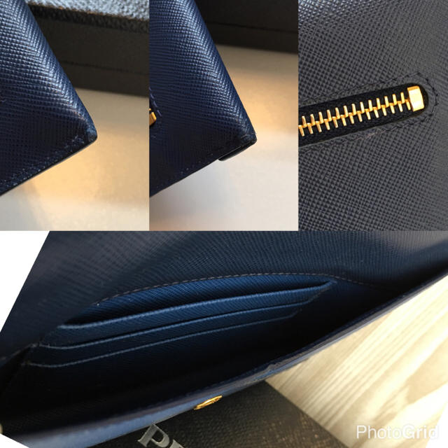 f58a67c5a7e3 PRADA - ふじ様専用♡極美品PRADA長財布 ネイビー バイカラー パスポート ...