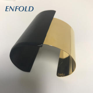 エンフォルド(ENFOLD)の美品♡ENFOLD  レザー×メタルバングル(ブレスレット/バングル)