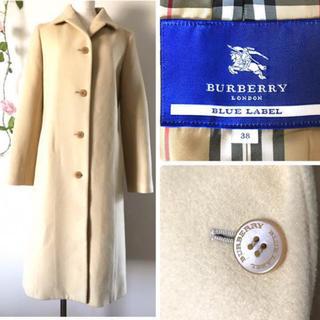 バーバリー(BURBERRY)のBURBERRY LONDON ブルー レーベル カシミヤ混紡 ウールのコート(ロングコート)