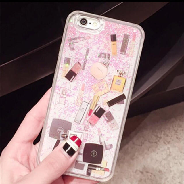 防水 iphone8 ケース 激安 | 大人気☆コスメ☆iPhoneケース 6/6s ピンク グリッター シャネル好きの通販 by smile88's shop|ラクマ