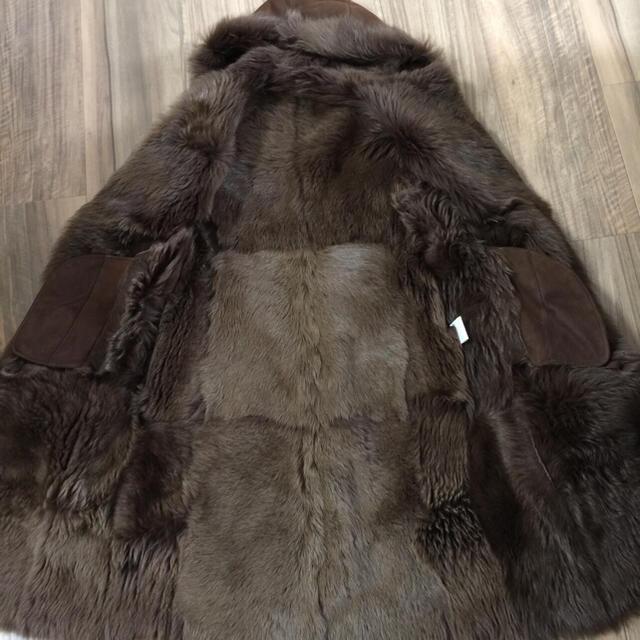 GRACE CONTINENTAL(グレースコンチネンタル)の20万 フード付リアルムートンコート♡チョコレートブラウン レディースのジャケット/アウター(ムートンコート)の商品写真