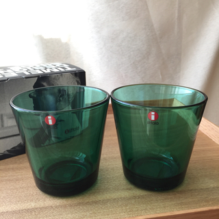 イッタラ(iittala)のイッタラ カルティオ エメラルド 2個セット タンブラー(グラス/カップ)