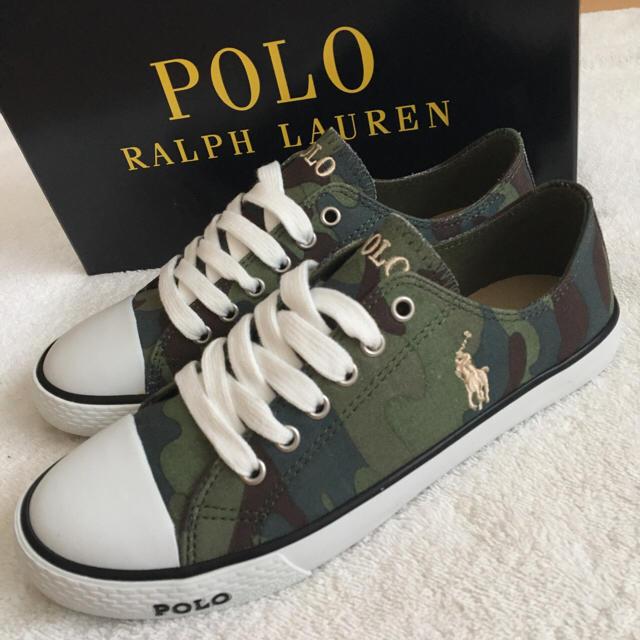 POLO RALPH LAUREN(ポロラルフローレン)の新品 ポロ ラルフローレン スニーカー 迷彩 23.5