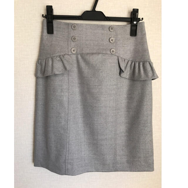 Rirandture(リランドチュール)の新品☆こじはる着色違い☆リランドチュール☆フリルタイトスカート☆グレー レディースのスカート(ひざ丈スカート)の商品写真