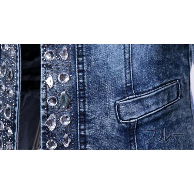 ビジューデニムジャケット レディースのジャケット/アウター(Gジャン/デニムジャケット)の商品写真