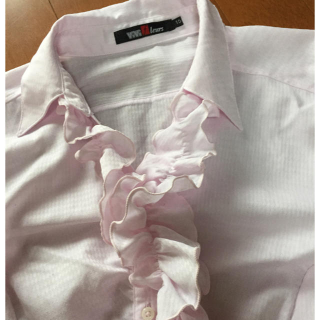 フリフリピンクシャツ♡ レディースのトップス(シャツ/ブラウス(長袖/七分))の商品写真