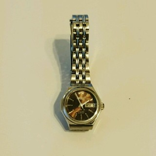 オリエント(ORIENT)の最終お値下げ❗ORIENT腕時計  シルバー&ブラウン(腕時計)