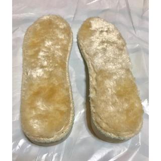 靴 中敷き ムートン モコモコ 4L(約25.5cm)(ブーツ)