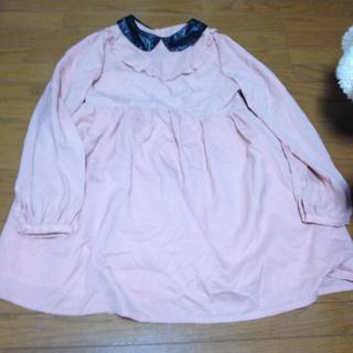 イーハイフンワールドギャラリー(E hyphen world gallery)のピンクのレザー衿ワンピース(ひざ丈ワンピース)