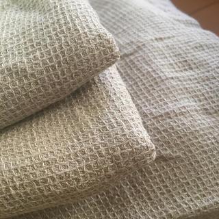 ムジルシリョウヒン(MUJI (無印良品))の無印良品 麻綿 ボックスシーツ&ピローケースセット(シーツ/カバー)