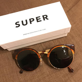 スーパー(SUPER)のSUPER サングラス お値下げ lucia べっ甲 ゴールド(サングラス/メガネ)