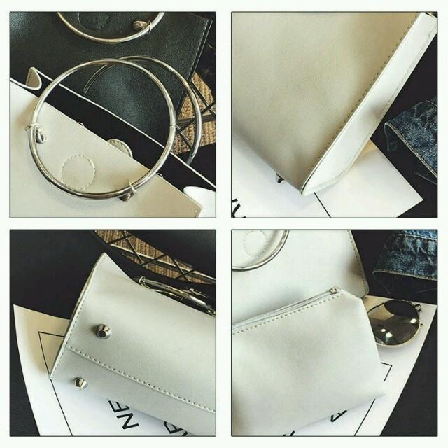 aya様専用★ライトグレー レディースのバッグ(ハンドバッグ)の商品写真