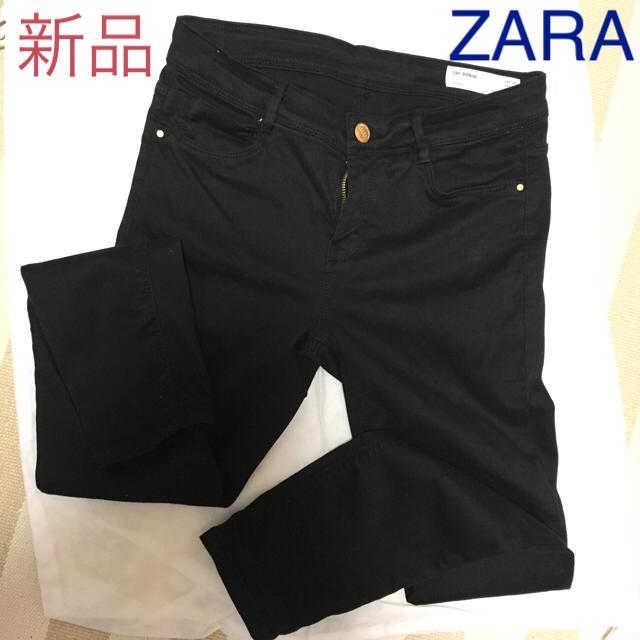 ZARA(ザラ)の新品 ZARA ブラックスキニーデニム レディースのパンツ(スキニーパンツ)の商品写真