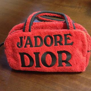 ディオール(Dior)のDior✨パイル地ミニボストンバッグ(トートバッグ)