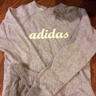 アディダス(adidas)のadidas ロゴスウェット 美品(トレーナー/スウェット)