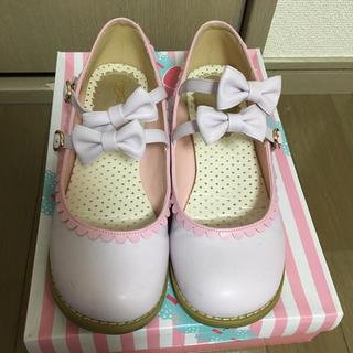 アンジェリックプリティー(Angelic Pretty)の   クイーンビー ペタンコリボンシューズ☆(バレエシューズ)