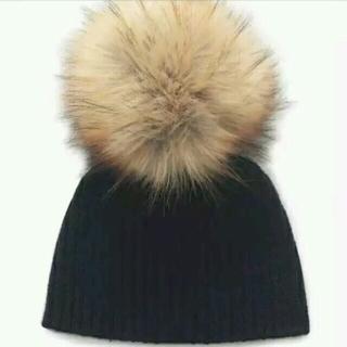 スナイデル(snidel)のsnidel ファーニット帽(ニット帽/ビーニー)