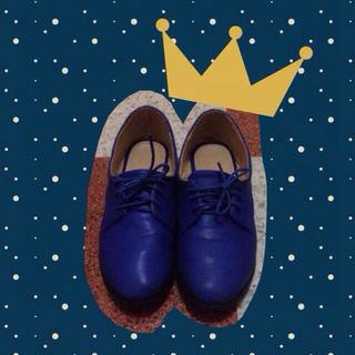 ウィゴー(WEGO)の再出品!ブルーのフラットシューズ(ローファー/革靴)