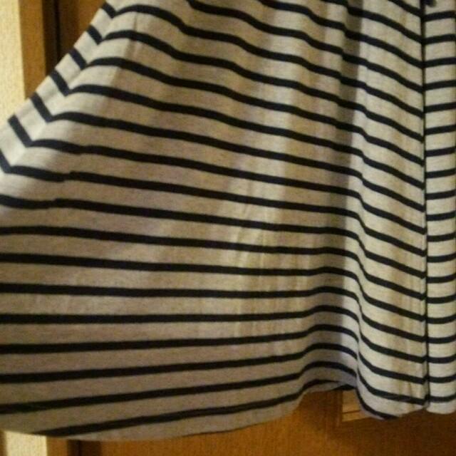 グレー×紺  フレアスカート Lサイズ レディースのスカート(ひざ丈スカート)の商品写真