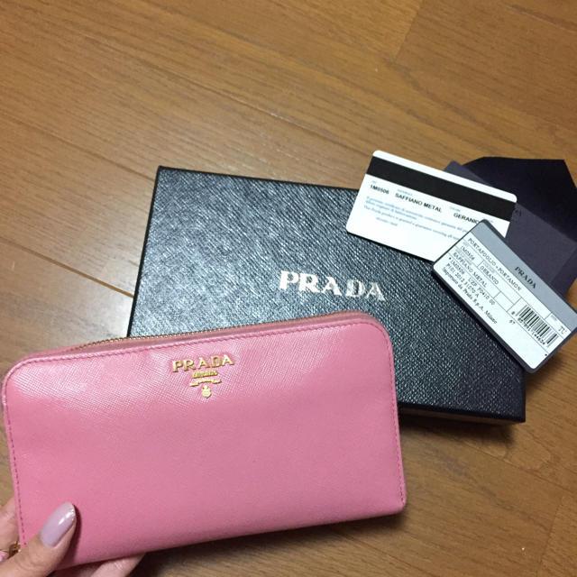436cd09889dc PRADA - 人気色のピンク♡PRADA/プラダ サフィアーノ ラウンドファスナー ...