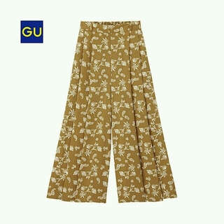 ジーユー(GU)のペイズリー柄スカンツLサイズ(ロングスカート)