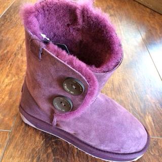 エミュー(EMU)の新品!emu♡バレリーロー♡紫♡22cm(ブーツ)