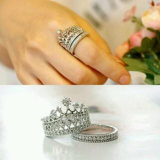 ロマンチック☆2連リング クラウン 王冠リング(リング(指輪))