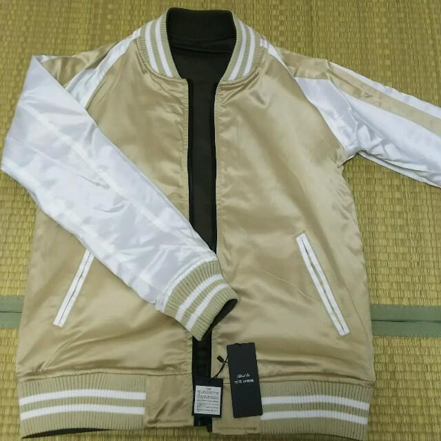 TETE HOMME(テットオム)の【新品】テットオム リバーシブルMA-1 スカジャン メンズのジャケット/アウター(スカジャン)の商品写真