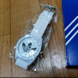 アディダス(adidas)のアディダスラバーウァッチブラック腕時計(ラバーベルト)