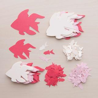 コメントカード「金魚」3色セット(赤系)(カード/レター/ラッピング)