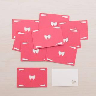 メッセージカード「リボン」9枚セット+α(A)(カード/レター/ラッピング)