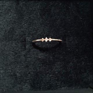 エテ(ete)のete ブラウンダイア ピンキーリング(リング(指輪))