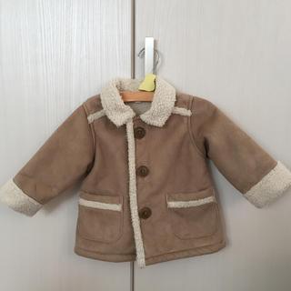 ムジルシリョウヒン(MUJI (無印良品))の無印  ムートン風 コート  80  MUJI(ジャケット/コート)