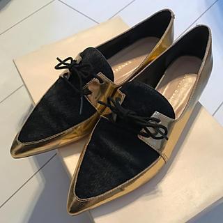 エストネーション(ESTNATION)のLOEFFLER RANDALL ポインテッドトゥシューズ(ローファー/革靴)