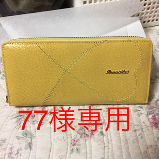 330cc7481cea ロココ(ROCOCO)の77様専用Rococoハートファスナー長財布牛革黄色(