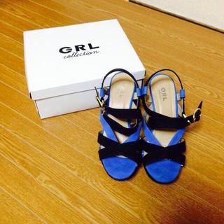 GRL ブルー&ブラック(サンダル)