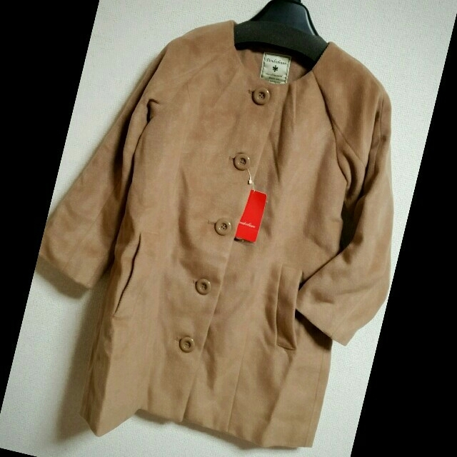 BABYLONE(バビロン)のバビロン ノーカラーコート♡ナノ・ユニバースやビームス、アーバンリサーチ好きに♡ レディースのジャケット/アウター(ロングコート)の商品写真