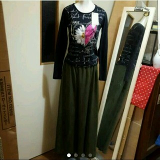 デシグアル(DESIGUAL)の新品リメイク 第1弾 Desigual ワンピ →ロンT キッズ用→大人XS?(Tシャツ(長袖/七分))