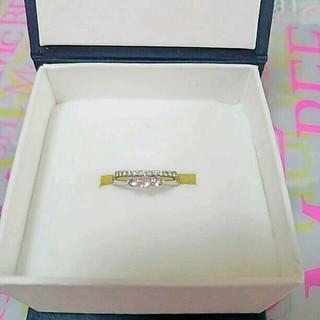 ジュエリーツツミ(JEWELRY TSUTSUMI)の天然ダイヤ ハーフエタニティ ピンクサファイア(リング(指輪))