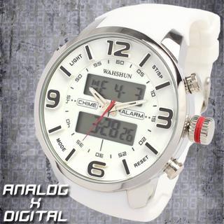 【限定品】アナログ&デジタル 防水 ダイバーズウォッチ風でおしゃれなメンズ腕時計(腕時計(アナログ))